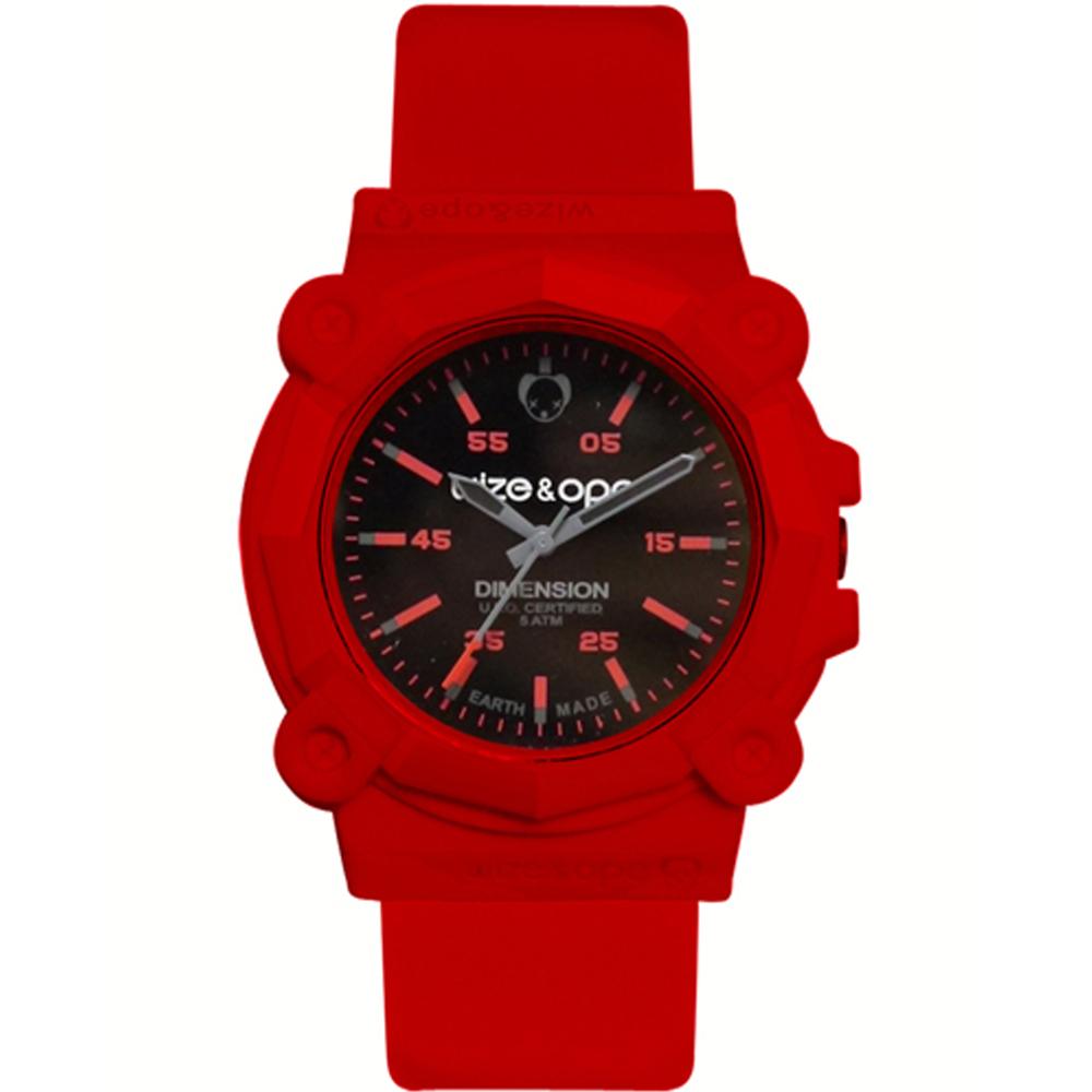 Wize&Ope  重裝野戰造型錶-紅/40mm