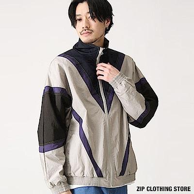 運動休閒撞色教練夾克(2色) ZIP日本男裝