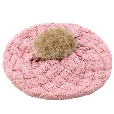 【iSFun】鬆軟棉織兒童貝蕾帽(粉)