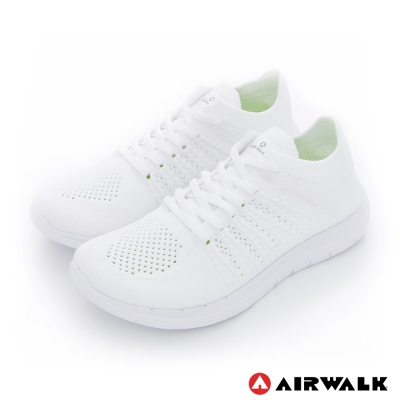 美國 AIRWALK透氣輕量編織慢跑鞋運動鞋 女款-白色