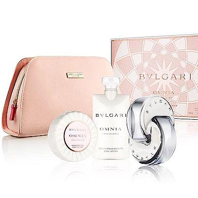 BVLGARI寶格麗 晶澈香氛禮盒(淡香水+身體乳+香氛皂)內贈收納包