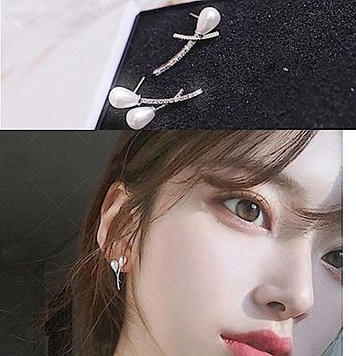 梨花HaNA  韓國925銀微光貝珠夢之聲珍珠耳環