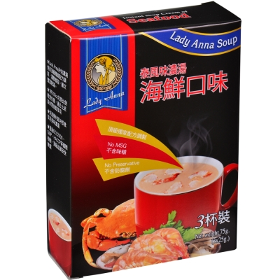 Lady Anna 泰風味濃湯-海鮮口味(25gx3入)