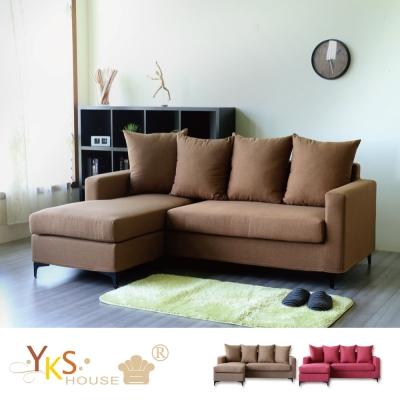 YKS 瑪蓮L型布沙發 獨立筒版 多色可選