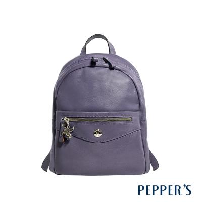 PEPPER`S  Ellie 羊皮拉鍊後背包 - 迷霧紫