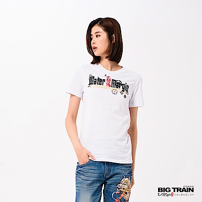 BIG TRAIN 水滸武將圓領短袖女款-女-白色