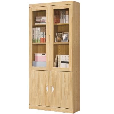 品家居 華爾2.7尺四門書櫃-80x30x180cm-免組