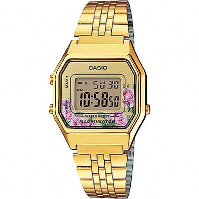 CASIO 卡西歐Digital 玫瑰物語電子錶-金(LA-680WGA-4CDF)