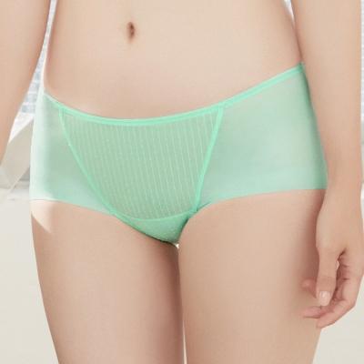 推Audrey-提花舒波-中腰平口褲-薄荷綠
