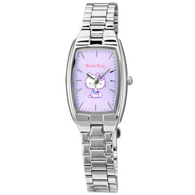 HELLO KITTY 甜蜜嘉賓時尚腕錶-粉紫/19mm