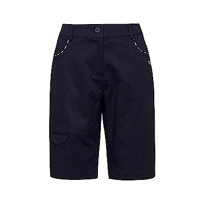 FILA 女款棉質平織短褲-丈青 5SHS-1436-NV