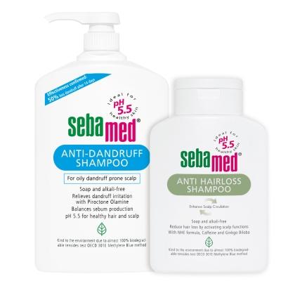 sebamed施巴 油性洗髮乳1000ml+安絲洗髮乳400ml