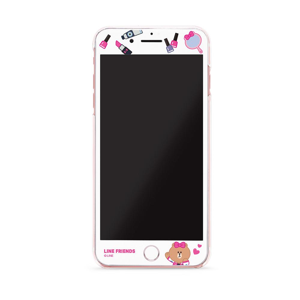 GARMMA LINE Friends CHOCO iPhone 7/8+plus 滿版鋼化膜