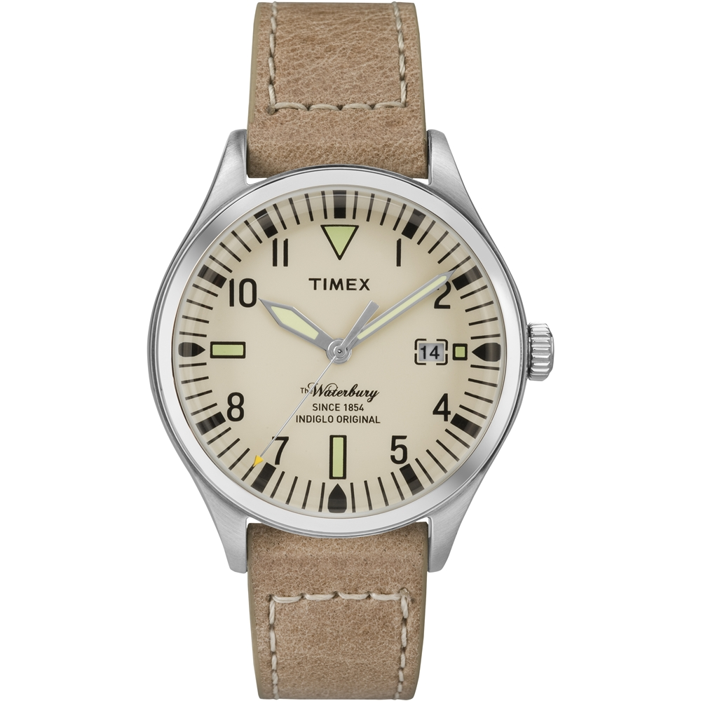 TIMEX 天美時Waterbury系列 潮流腕錶 -淺棕/38mm