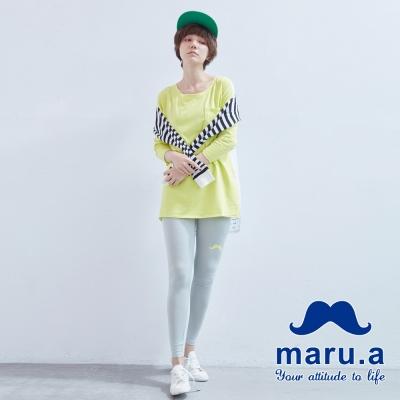 maru-a麻洛野-草寫字體LOGO設計內搭褲