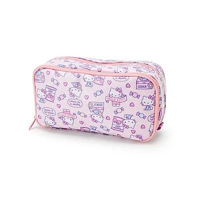 Sanrio HELLO KITTY防潑水雙層筆袋/化妝包(甜心糖果)