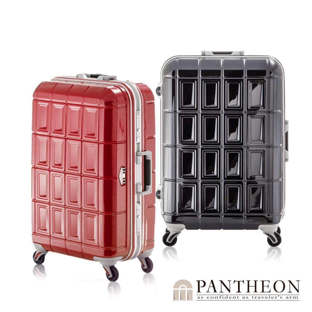 日本PANTHEON 28吋 經典黑  網美行李箱 輕量鋁框登機箱