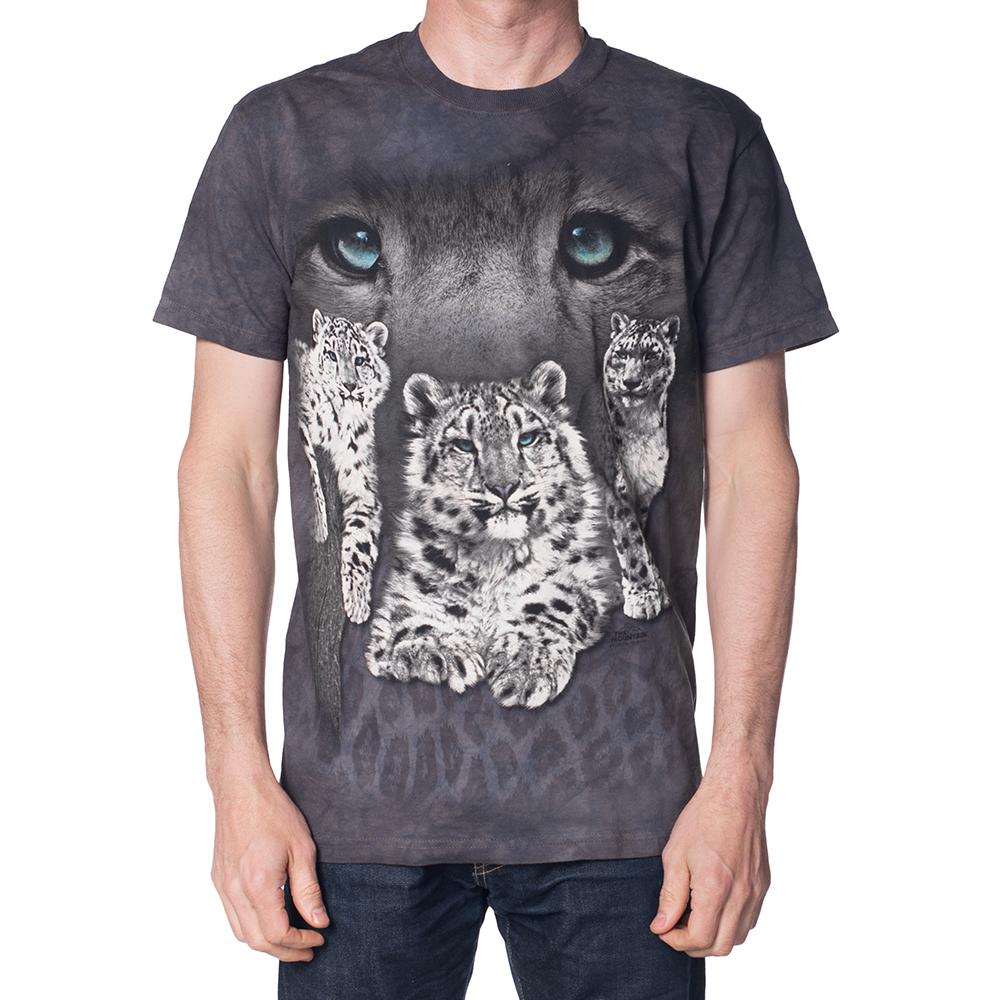 摩達客-美國The Mountain雪豹灰斑 純棉環保短袖T恤