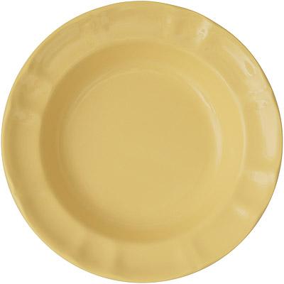 EXCELSA Chic陶製深餐盤(奶油黃22cm)