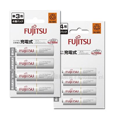Fujitsu  充電電池組  (3號1900mAh+4號750mAh 各4顆)
