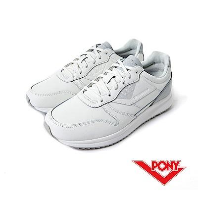 【PONY】Tribeca 系列-經典復古鞋-女性-白