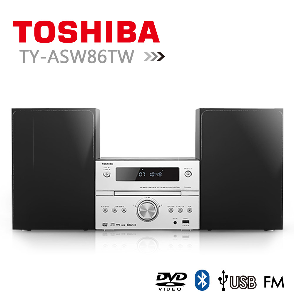 【TOSHIBA】福利品DVD/MP3/USB/藍芽床頭音響 (TY-ASW86TW)