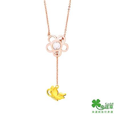 幸運草 春日風光黃金/水晶項鍊