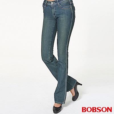 BOBSON 女款彈性小喇叭褲