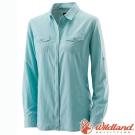 Wildland 荒野 W1201-65湖水藍 女 拉鍊可調節抗UV襯衫