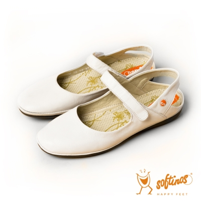 Softinos(女) 瑪麗安 散步專用娃娃帶涼鞋- 白
