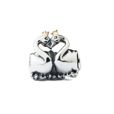 Pandora 潘朵拉 純銀墜-天鵝擁抱