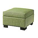 品家居 奧斯頓耐磨皮革沙發椅凳(三色可選)-50x50x40cm免組