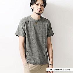 木質紋素色短袖T恤(16色) ZIP日本男裝