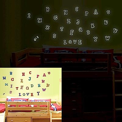 Pond's 夜光壁貼~英文字母(2入)Y0001