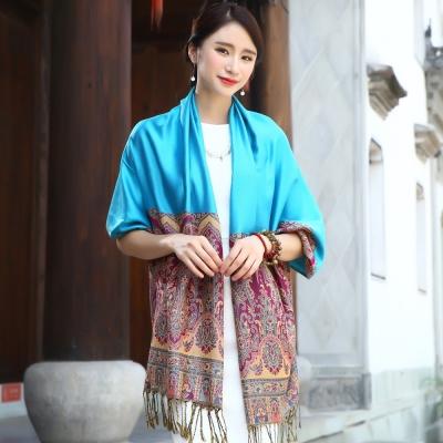 Seoul-Show-曼荼羅-瓏月-棉質編織圍巾披