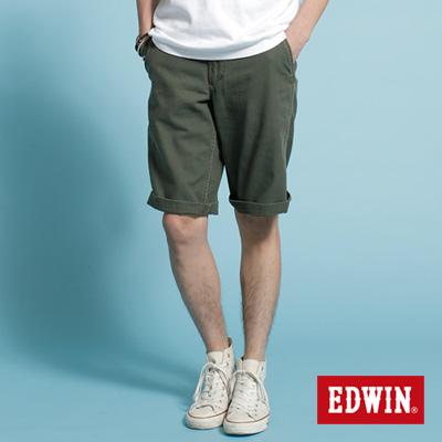 EDWIN-簡單生活-KHAKI休閒馬褲-男款-橄欖綠