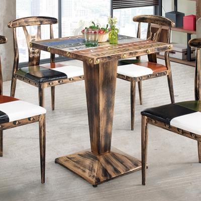 Boden-布迪2尺工業風方型洽談桌/休閒桌-61x61x77cm