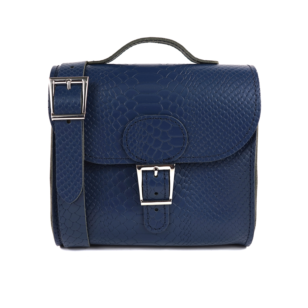 Brit-Stitch 手工牛皮肩背手提典藏包-海軍藍 @ Y!購物