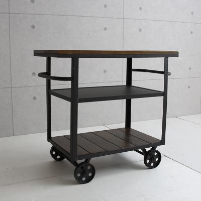 微量元素 手感工業風美式餐車/餐台