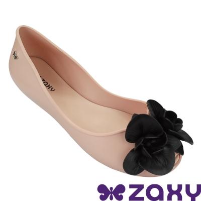 Zaxy 巴西 女 故事花語平底娃娃鞋-粉色/黑色