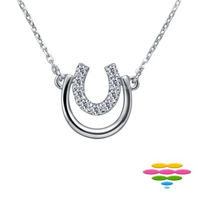 彩糖鑽工坊  18 K 馬蹄鑽石項鍊 幸運馬蹄系列