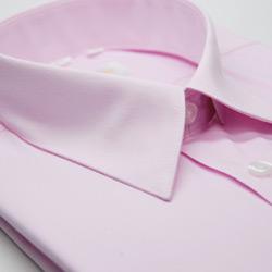 金‧安德森 粉紅色基本款長袖襯衫