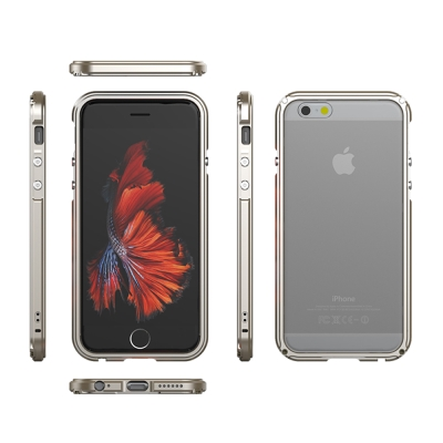 GINMIC iPhone 6S PLUS(5.5)傳奇系列金屬邊框+透明背蓋保...