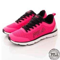 FILA 女款 輕量舒適慢跑鞋~黑粉 5-J319R-240