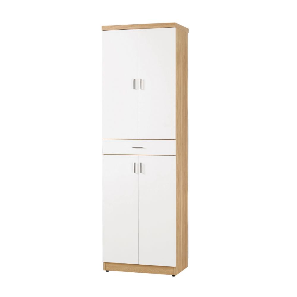 品家居 麗莉2尺四門單抽高鞋櫃(二色可選)-60.5x38x196.5cm免組