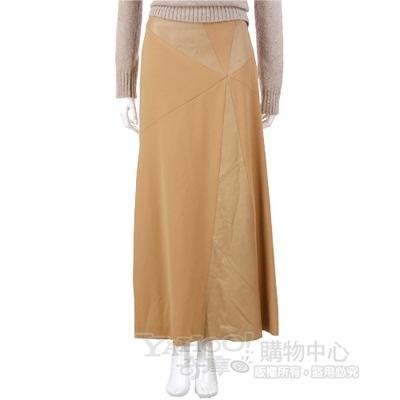 SIMULTANEOUS 駝色拼接設計長裙 @ Y!購物