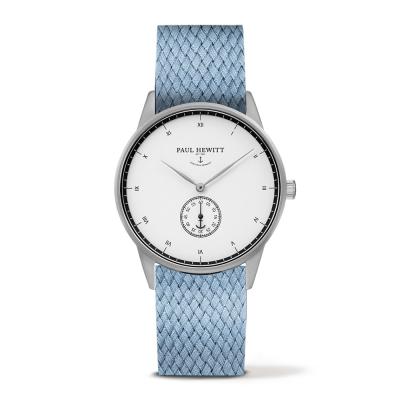 PAUL HEWITT Signature 小秒針手錶-白x尼加蘭色錶帶/38mm
