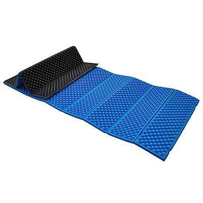 防水露營睡墊 折疊睡墊 蛋巢型設計 57x190cm (藍色) -快速到貨