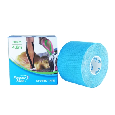 PowerMax 運動肌效能貼布/給力貼 50mm(單捲)-水藍