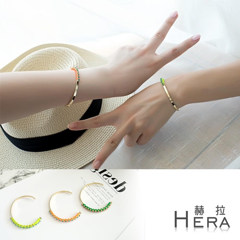 Hera 赫拉 編織螢光彩繩開口手環/手鐲-三色